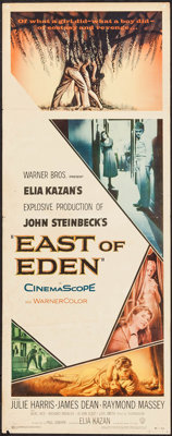 "East of Eden (Warner Brothers, 1955). Insert (14"" X 36""). Drama"