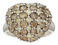 Estate Jewelry:Rings, Colored Diamond, White Gold Ring. ...