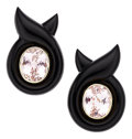 Estate Jewelry:Earrings, Kunzite, Black Onyx, Gold Earrings. ...