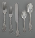 Silver Flatware, American:Gorham, A Twenty-Four Piece Gorham Lady Washington Pattern SilverFlatware Service for Four, Providence, Rhode Island, d... (Total:24 )