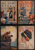 Books:Science Fiction & Fantasy, Edgar Rice Burroughs. Mad King. In All-Story Weekly.New York: Munsey, 1914-1915. Complete in four weekl... (Total: 4 )