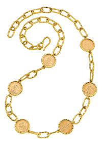 Gold Coin, Gold Necklace, Jean Mahie