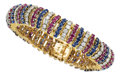 Estate Jewelry:Bracelets, Diamond, Sapphire, Ruby, Gold Bracelet, Vourakis. ...