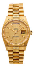 Estate Jewelry:Watches, Rolex Gentleman's Gold Day-Date President Watch, circa 1978. ...