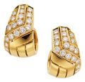Estate Jewelry:Earrings, Diamond, Gold Earrings, Cartier, French. ...