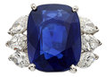 Estate Jewelry:Rings, Burma Sapphire, Diamond, Platinum Ring. ...