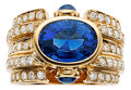 Estate Jewelry:Rings, Sapphire, Diamond, Gold Ring, Bvlgari. ...