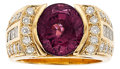 Estate Jewelry:Rings, Gentleman's Spinel, Diamond, Gold Ring. ...
