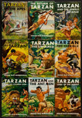 Books:Fiction, Edgar Rice Burroughs. Collection of Nine Tarzan Reprints in DustJackets. New York: [circa 1950s]. Reprint editions.... (Total: 9Items)