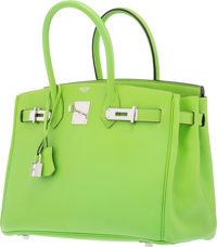 b840363008e Hermes 30cm Vert Cru Swift Leather Shooting Star Birkin Bag