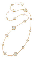 Estate Jewelry:Necklaces, Mother-of-Pearl, Gold Necklace. ...