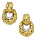 Estate Jewelry:Earrings, Diamond, Gold Earrings, David Webb. ...