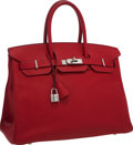 Luxury Accessories:Bags, Hermes 35cm Rouge Casaque Epsom Leather Birkin Bag with PalladiumHardware. Q Square, 2013. Very Good to Excellent Conditi...