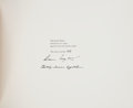 Books:Art & Architecture, Andrew Wyeth. Wyeth at Kuerners [and:] Christina's World. Boston: 1976. First editions, 200 copies signe...