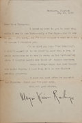 Books:Literature 1900-up, Marjorie Kinnan Rawlings. Typed Letter, Signed. Hawthorne, Florida,May 21, 1938. Discussing movie rights with MGM....