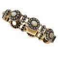 Estate Jewelry:Bracelets, Opal, Diamond, Gold, Silver Bracelet. ...
