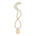 Estate Jewelry:Pendants and Lockets, Diamond, Pink Gold Pendant-Necklace. ...