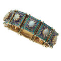Estate Jewelry:Bracelets, Opal, Enamel, Gold Bracelet. ...