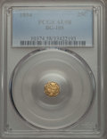 California Fractional Gold , 1854 25C Liberty Octagonal 25 Cents, BG-105, R.3, AU58 PCGS. PCGSPopulation (12/213). NGC Census: (0/62). ...