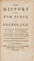 Books:Literature Pre-1900, Henry Fielding. The History of Tom Jones, A Foundling.London: Printed for A. Millar, 1749. ... (Total: 6 Items)