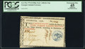 Colonial Notes:Georgia, Georgia 1776 $4 Blue Seal PCGS Apparent Extremely Fine 45.. ...