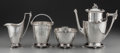Silver Holloware, American:Tea Sets, A Four Piece Gorham Egyptian Revival Silver Tea Service,Providence, Rhode Island, circa 1871, designed by GeorgeWilkinson... (Total: 4 )