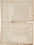 Militaria:Ephemera, [Second Barbary War]. Log Book of the USS Spark. ... (Total:2 Items)