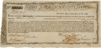 State of Massachusetts Bay Six Percent Treasury Certificate