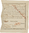 Militaria:Ephemera, State of Massachusetts Bay Ten Pound Bounty Note....