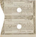 Militaria:Ephemera, State of Connecticut Treasury Certificates (2) Issued to JonathanArnold...