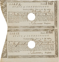 State of Connecticut Treasury Certificates (2) Issued to Jonathan Arnold
