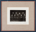 Autographs:Statesmen, Burger Supreme Court Photograph With Signatures of All NineJustices. ...