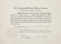 Autographs:U.S. Presidents, Calvin Coolidge Presidential Document Signed. ...