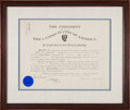 Autographs:U.S. Presidents, Theodore Roosevelt Signed Presidential Military Appointment....