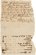 Autographs:U.S. Presidents, George Washington Autograph Document Signed. ...