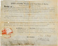Autographs:U.S. Presidents, John Adams Document Signed....