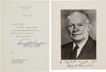 Autographs:U.S. Presidents, Dwight D. Eisenhower Signed Photograph with Letter of Transmittal,and Inaugural Invitation. ... (Total: 3 Items)