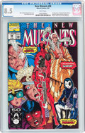 Modern Age (1980-Present):Superhero, The New Mutants #98 (Marvel, 1991) CGC VF+ 8.5 White pages....