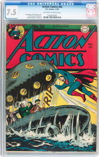Action Comics #90 (DC, 1945) CGC VF- 7.5 Off-white to white pages