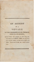 Books:Americana & American History, [Zebulon Montgomery Pike]. An Account of a Voyage Up theMississippi River, From St. Louis to Its Source; Made Underthe...