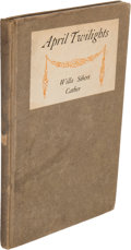Books:Literature 1900-up, Willa Sibert Cather. April Twilights. Boston: Richard G.Badger, The Gorham Press, 1903....