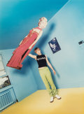 Photographs, David LaChapelle (American, b. 1964). Leonardo holding Marilyn, 1995. Dye coupler. 23 x 17 inches (58.4 x 43.2 cm). Sign...