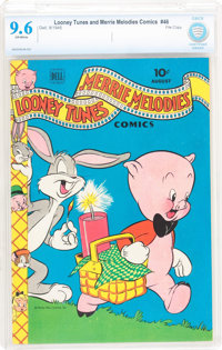 Looney Tunes and Merrie Melodies Comics #46 File Copy (Dell, 1945) CBCS NM+ 9.6 Off-white pages