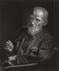 Photographs, Yousuf Karsh (Canadian, 1908-2002). George Bernard Shaw, 1943. Gelatin silver, printed later. 23-3/4 x 19-3/4 inches (60...