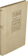 Books:Literature 1900-up, Robinson Jeffers. Tamar and Other Poems. New York: Peter G.Boyle, [1924]. First edition. Inscribed twice by Jef... (Total: 2 )