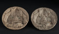 Miscellaneous:Other, Capitol Building Plaques Macerated Currency Two Examples.. ...(Total: 2 items)