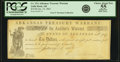 Obsoletes By State:Arkansas, Little Rock, AR - State of Arkansas-Arkansas Treasury Warrant $10 Jan. 10 1862 Cr. 15A, Rothert 381-5. PCGS Choice About New 5...