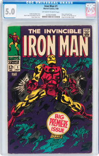 Iron Man #1 (Marvel, 1968) CGC VG/FN 5.0 Off-white to white pages
