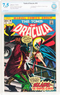 Bronze Age (1970-1979):Horror, Tomb of Dracula #10 (Marvel, 1973) CBCS VF- 7.5 Off-white pages....