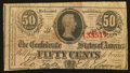 Confederate Notes:1863 Issues, T63 50 Cents 1863 PF-2. . ...